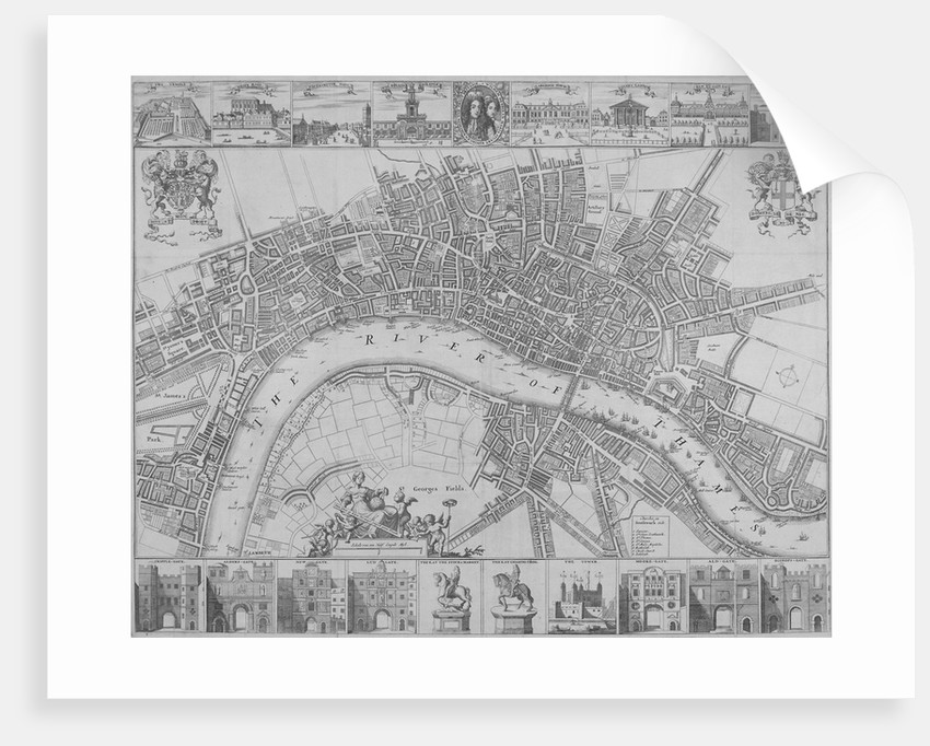 Map of the Cities of London and Westminster and Southwark by
