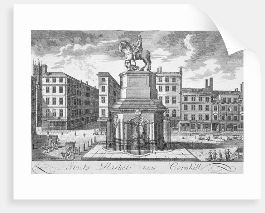 View of the Stocks Market, Poultry, looking from the west, City of London by Anonymous