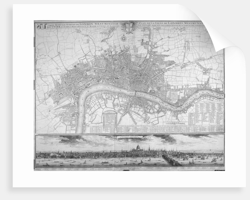 Map of Westminster, the City of London, Southwark, the Thames and surrounding areas by