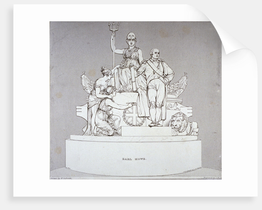 Monument to Earl Howe, sculpted by J Flaxman, St Paul's Cathedral, City of London by