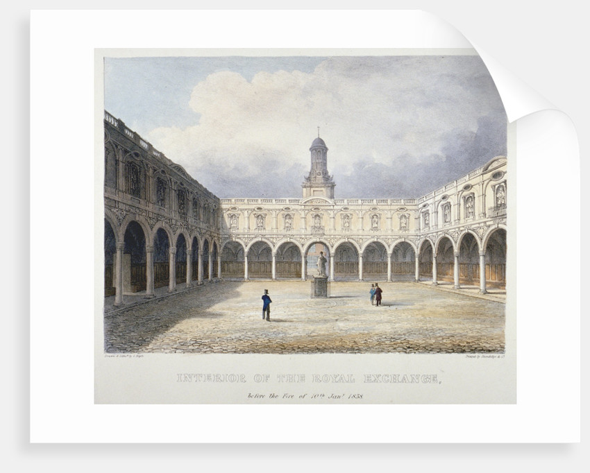 Courtyard of the Royal Exchange, City of London by Charles Bigot