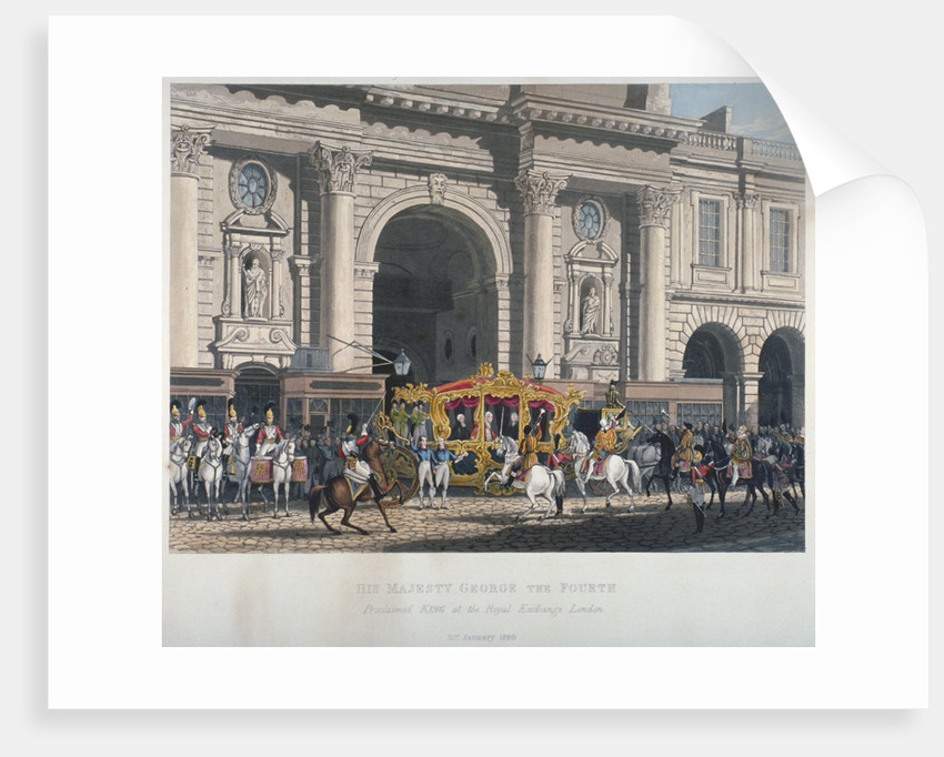 Proclaimation of George IV's accession to the throne at the Royal Exchange, London, 1820 (1827) by Anonymous