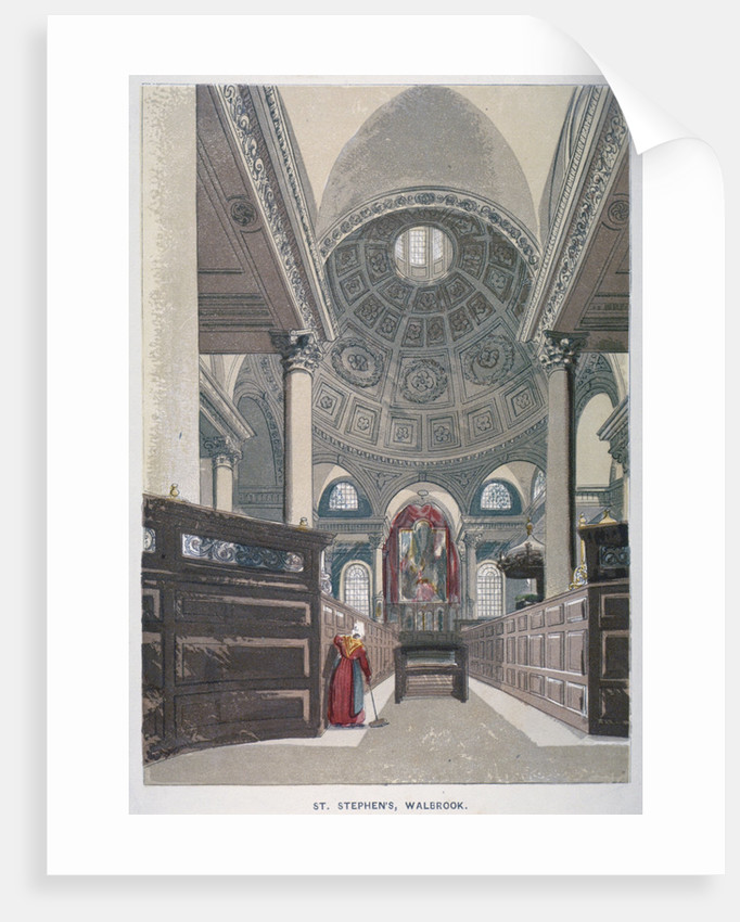 Interior looking east, Church of St Stephen Walbrook, City of London by Anonymous