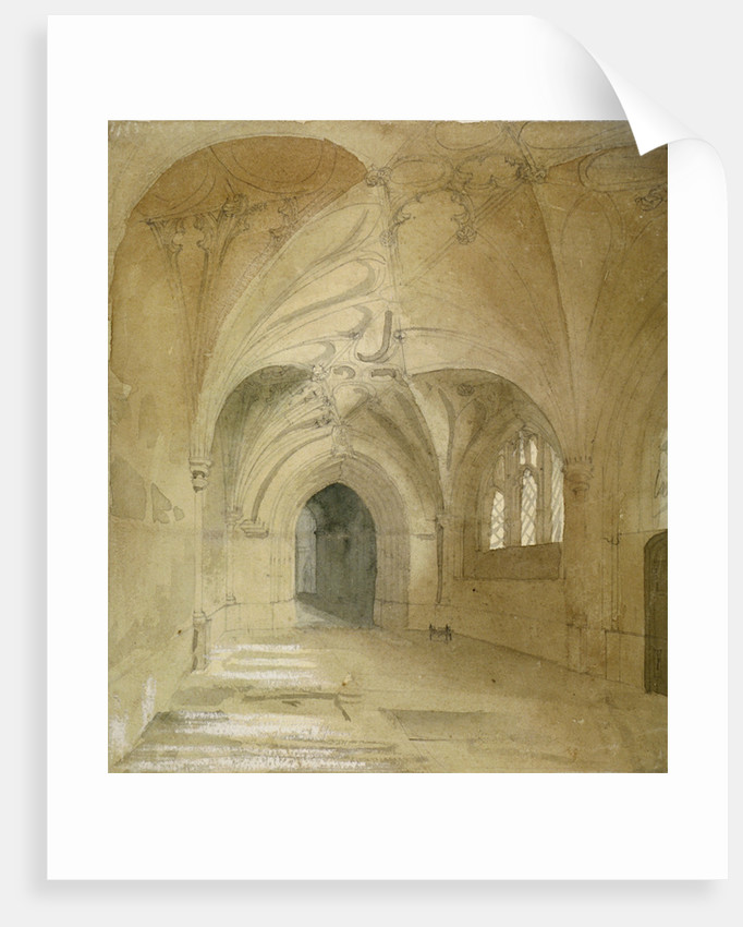 Interior view of the porch of St Sepulchre Church, City of London by Anonymous