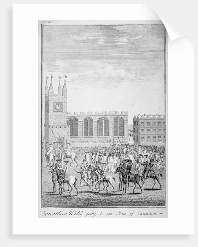 Jonathan Wild going to the place of execution, London by