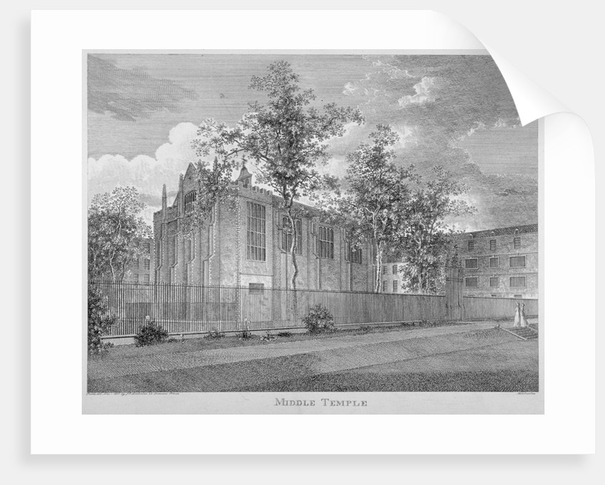 View of Middle Temple Hall from the south-west, Middle Temple, City of London by Anonymous