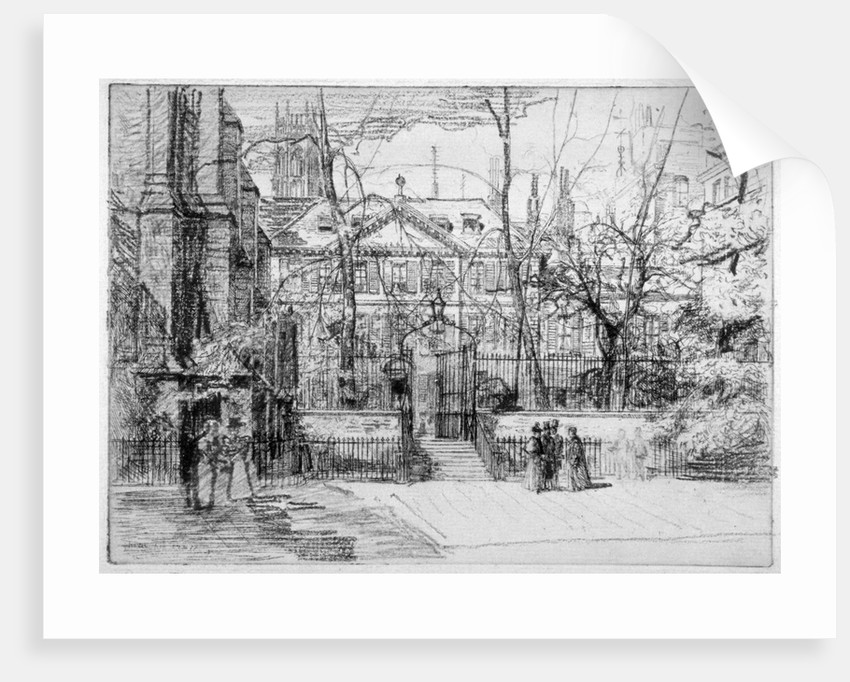 View of Master's House at Inner and Middle Temple, City of London by Percy Thomas