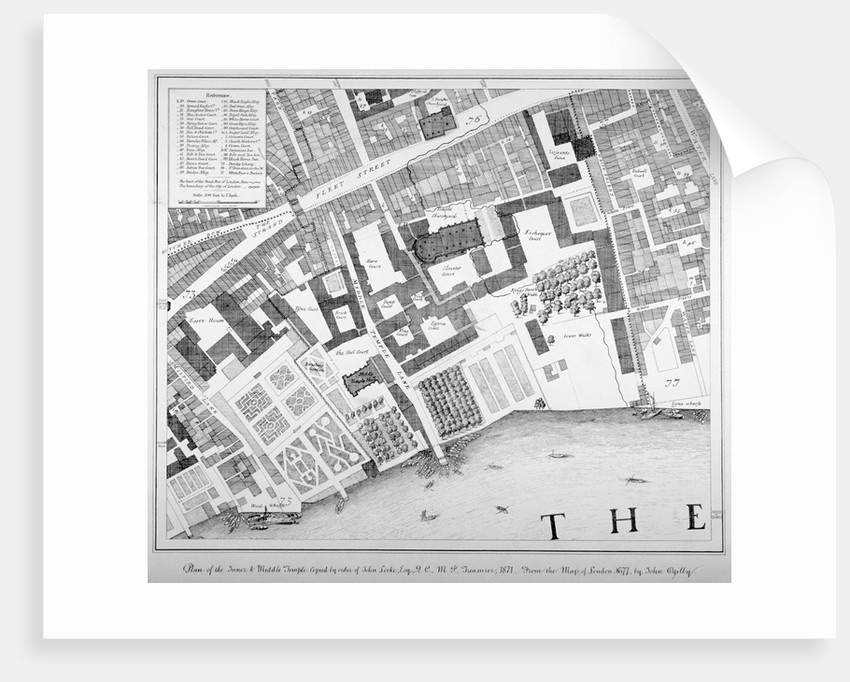 Middle and Inner Temple, City of London by Anonymous