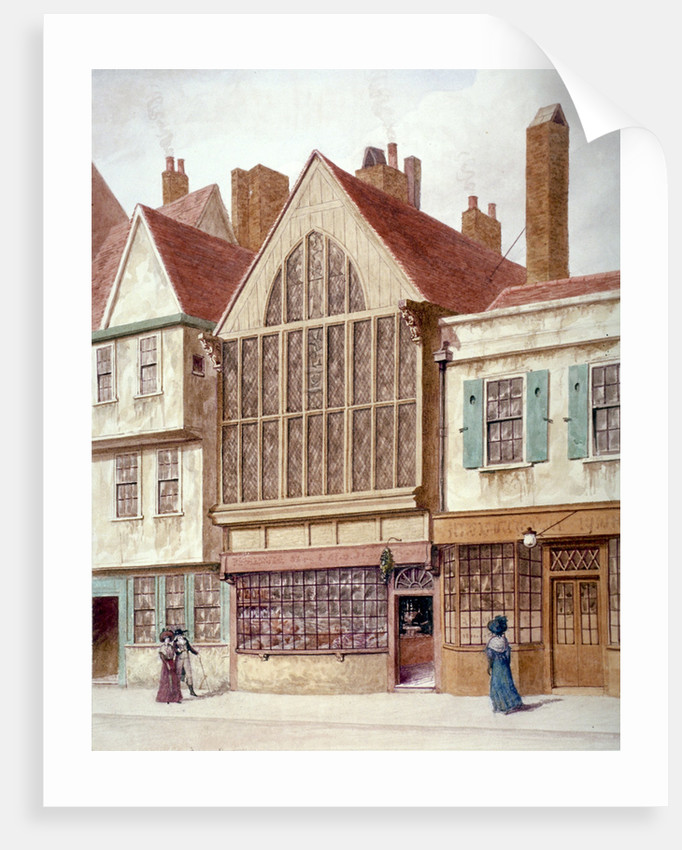 View of Trinity Hall, Aldersgate Street, City of London by JT Wilson