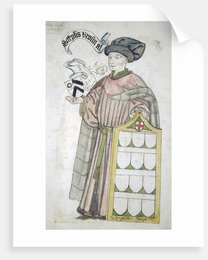 Stephen Broun, Lord Mayor of London 1438-1439 and 1448-1449, in aldermanic robes by