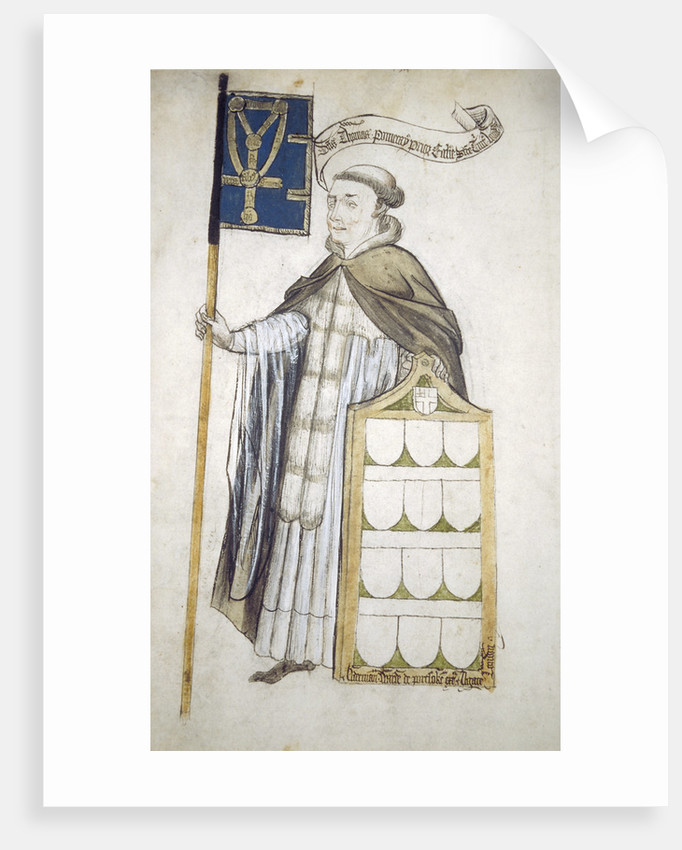 Thomas Pomeroy, Prior of Holy Trinity, in aldermanic robes by Roger Leigh