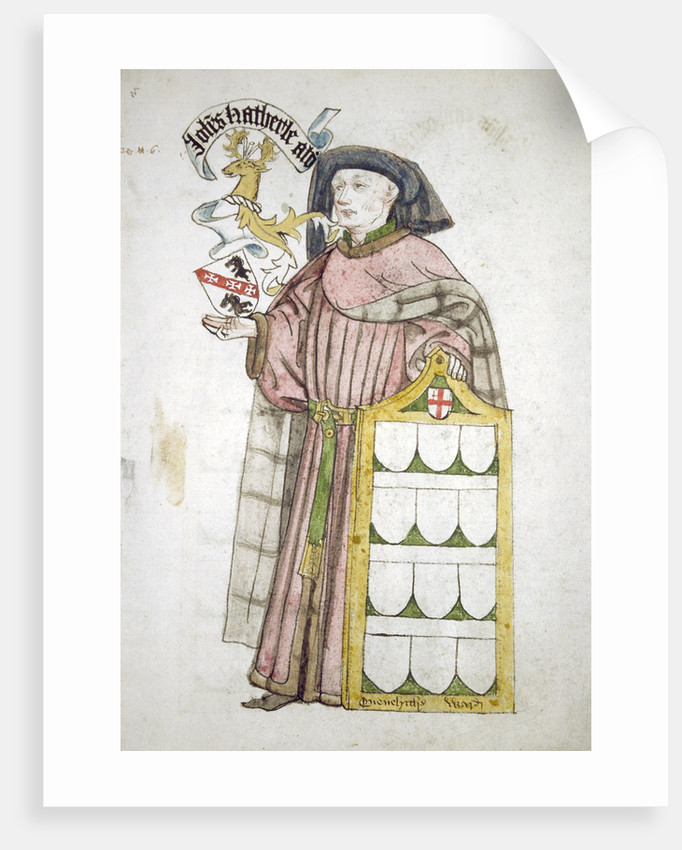 John Hatherle, Lord Mayor 1442-1443, in aldermanic robes by Roger Leigh