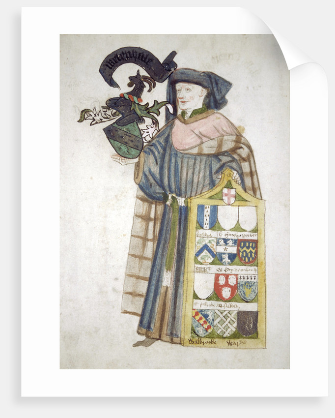 William Whetenhall, Sheriff of London 1440-1441, in aldermanic robes by Roger Leigh