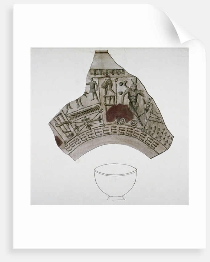 Fragment of Roman pottery found in Walbrook, City of London by Anonymous