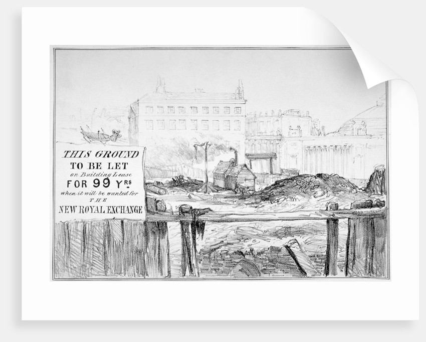 Satire on the delay in rebuilding the Royal Exchange after the fire of 1838 by Anonymous