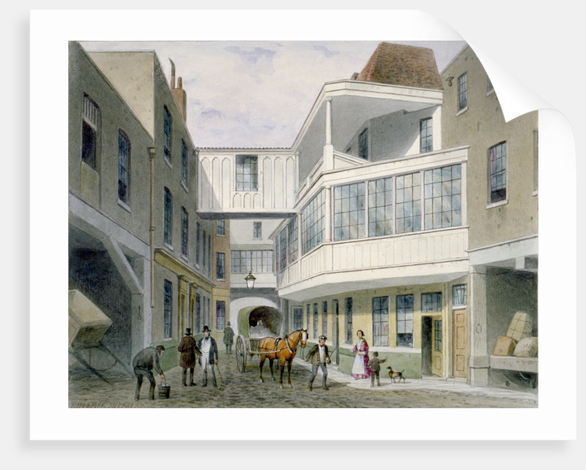 View of the Cross Keys Tavern, Wood Street, City of London by