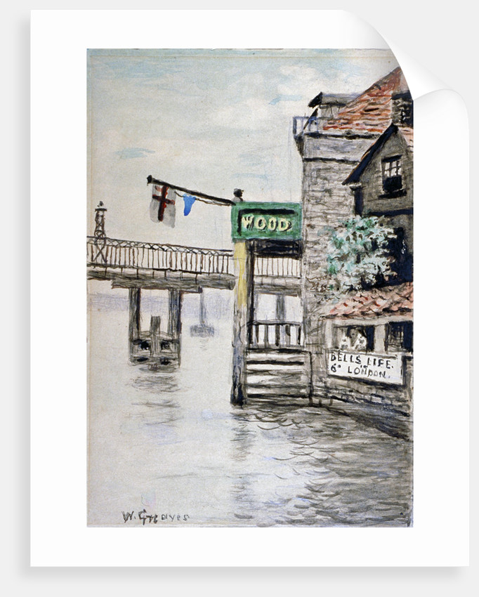 View of the Adam and Eve Inn, Chelsea, London by Walter Greaves