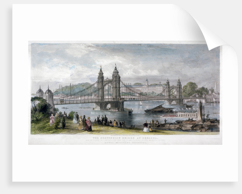 View of the suspension bridge at Chelsea, London by