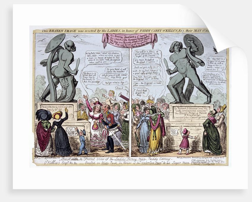 Women admiring the statue of Achilles, Hyde Park, London by George Cruikshank