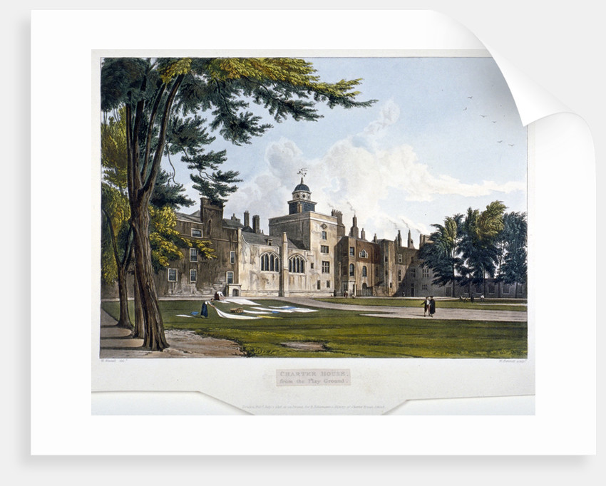 Charterhouse, Finsbury, London by William James Bennett