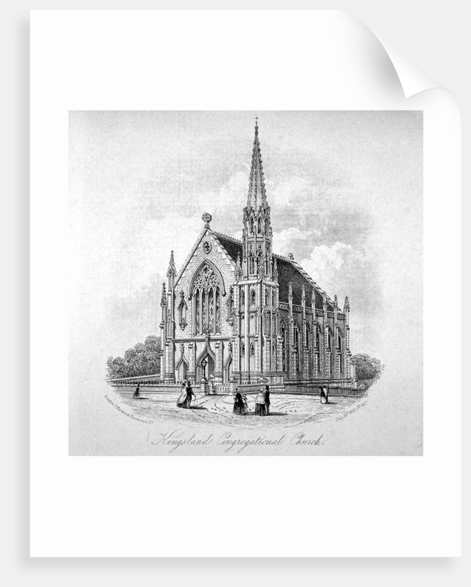 Kingsland Congregational Chapel, Kingsland Road, Hackney, London by Anonymous