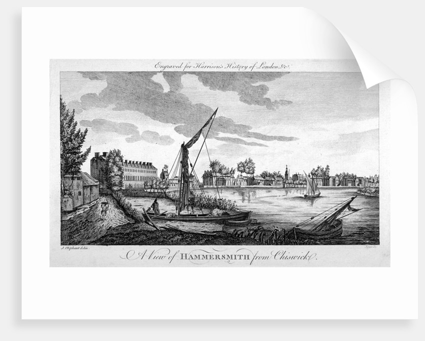 View of Hammersmith from Chiswick, London by John Royce