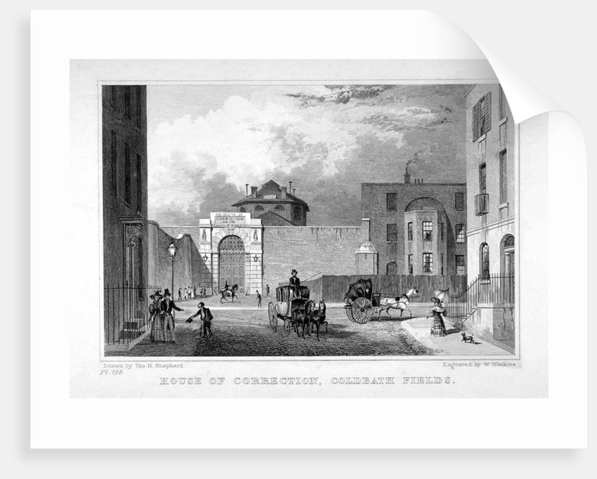 Cold Bath Fields Prison, Finsbury, London by