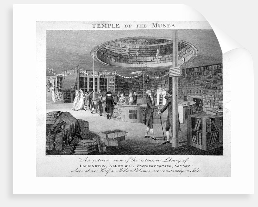 The Temple of the Muses Bookshop in Finsbury Square, London by