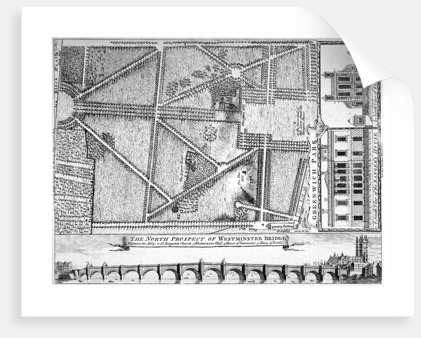 Plan of Greenwich Park, Greenwich, London by Anonymous