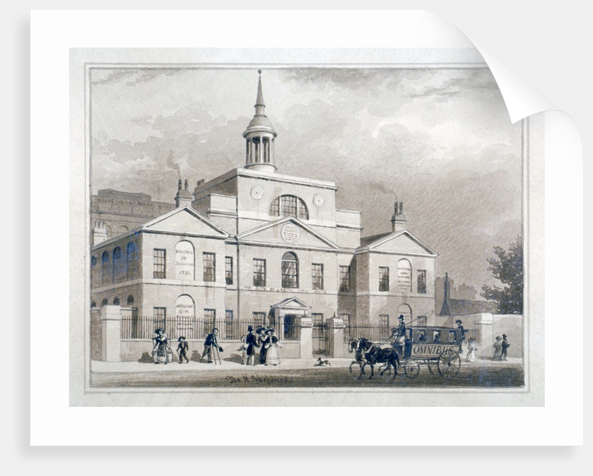 City of London Lying-In Hospital, City Road, Finsbury, London by Thomas Hosmer Shepherd
