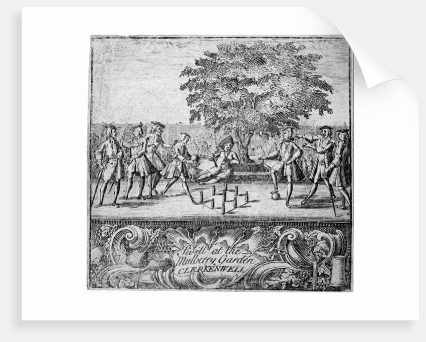 Men playing swill at Mulberry Garden, Clerkenwell, London by Anonymous