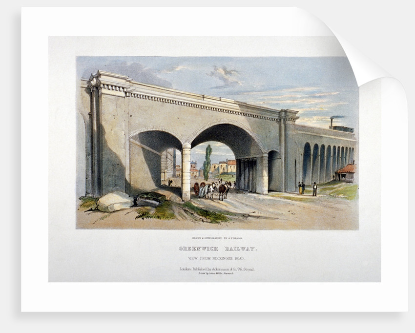 London and Greenwich Railway bridge over the Neckinger Road, Bermondsey, London by GF Bragg