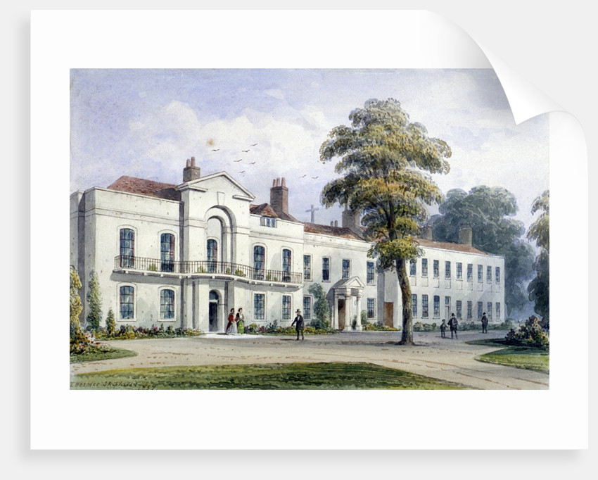 View of Brompton Lodge, Kensington, London by