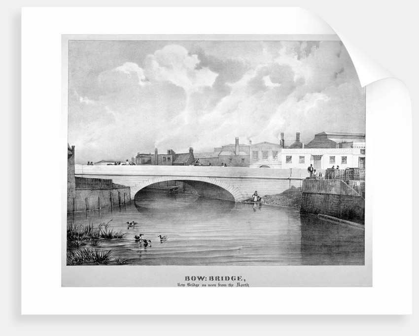 View of Bow Bridge from the north, London by Anonymous