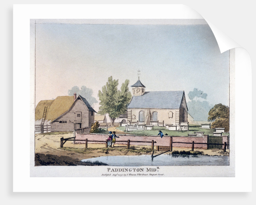 View of St Mary's Church, Paddington, London by