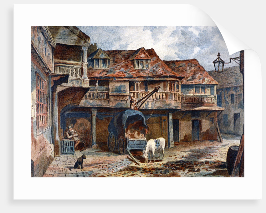 Courtyard of the Tabard Inn, Borough High Street, Southwark, London by JS Virtue