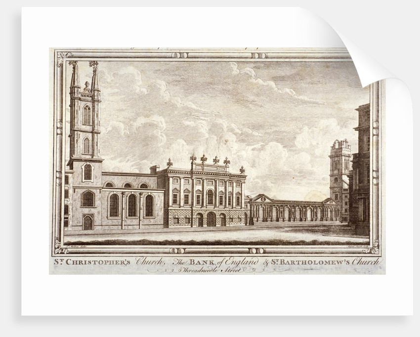 Bank of England, St Christopher-le-Stocks and St Bartholomew-by-the-Exchange, London by Adam Smith