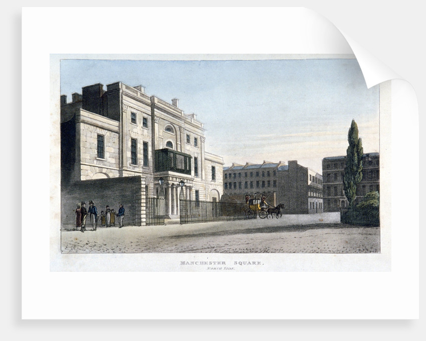 View of the north side of Manchester Square, Marlebone, London by Anonymous