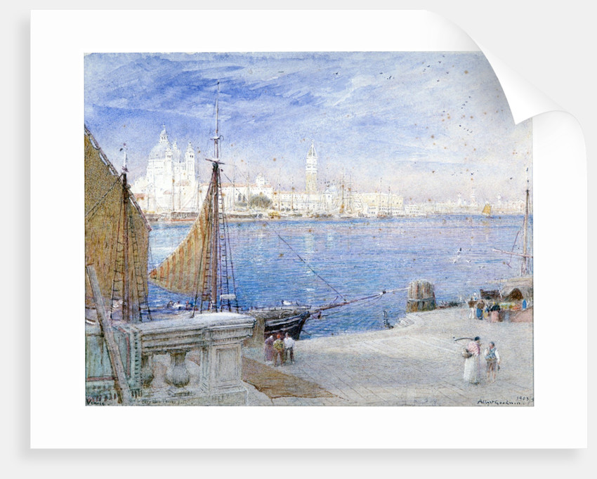 Venice, before the Campanile fell by Albert Goodwin