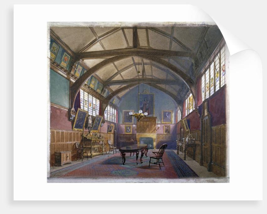 Interior of Barnard's Inn, London by