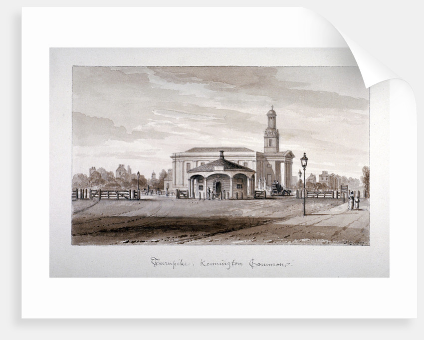 View of a turnpike at Kennington Common, Lambeth, London by