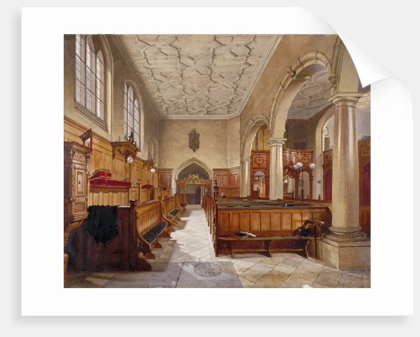 Interior of the chapel in Charterhouse, London by John Crowther