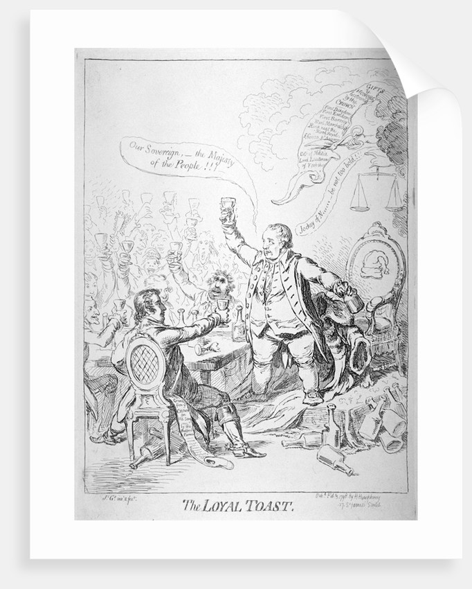 The loyal toast by James Gillray