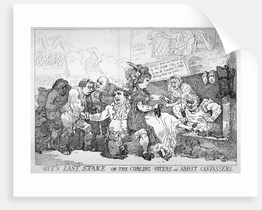 Wit's last stake... by Thomas Rowlandson