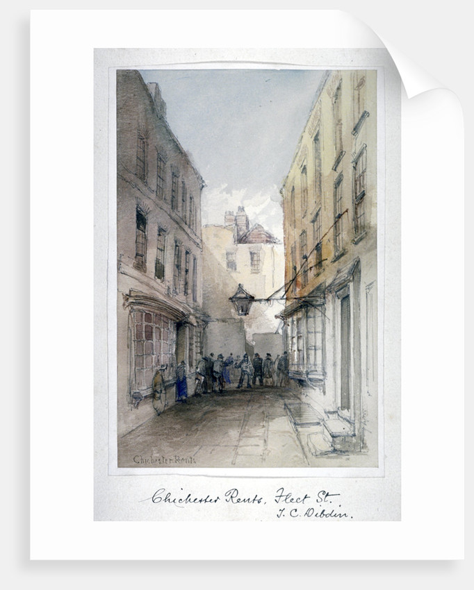 View in Chichester Rents, Fleet Street, City of London by Thomas Colman Dibdin