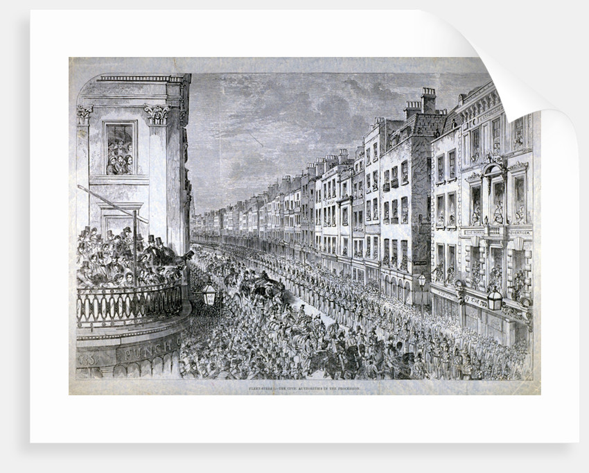 Fleet Street - the Civic Authorities in the Procession, City of London by Anonymous