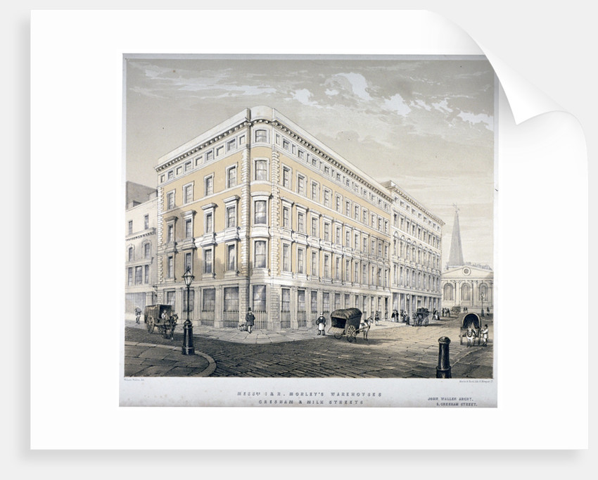 Messrs J&R Morley's warehouses, corner of Milk Street and Gresham Street, London by Martin & Hood