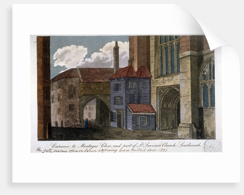 Entrance to Montague Close and part of Southwark Cathedral, London by Anonymous