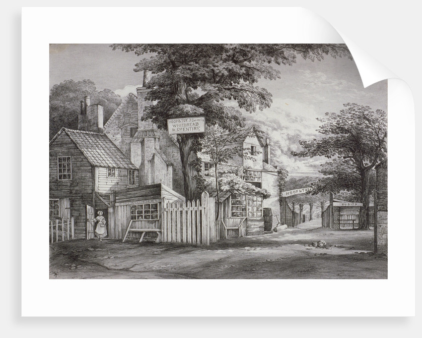 The Hoop and Toy Inn on Brompton Road, Kensington, London by Anonymous