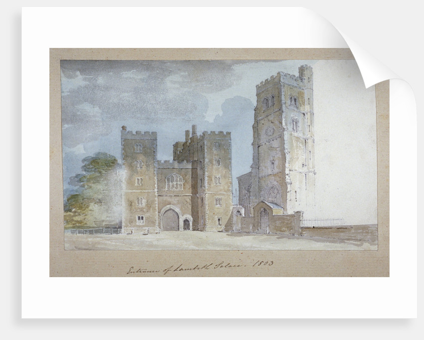 View of the entrance to Lambeth Palace, London by Anonymous